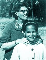 Sandra Laing with her mother