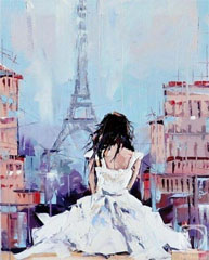 girl overlooking paris