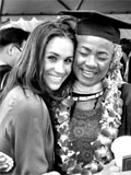Meghan with her mother during her graduation