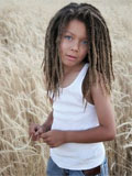 child with dreadlocs