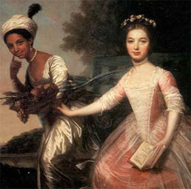 Dido Elizabeth Belle and her cousin Elizabeth by Johann Zoffany