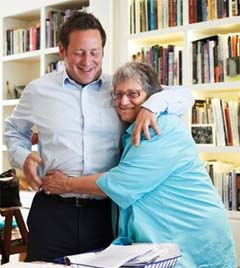 Lady Vaizey CBE with her son Ed Veizey